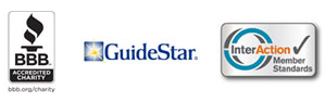 BBB Guidestar and InterAction logos