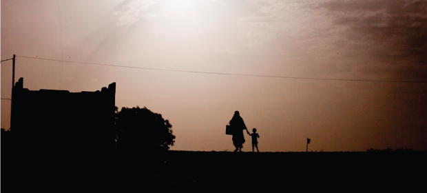 A mother and child in northern Mali
