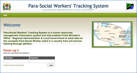 Para-Social Workers' Tracking System