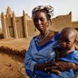 Malian woman with child