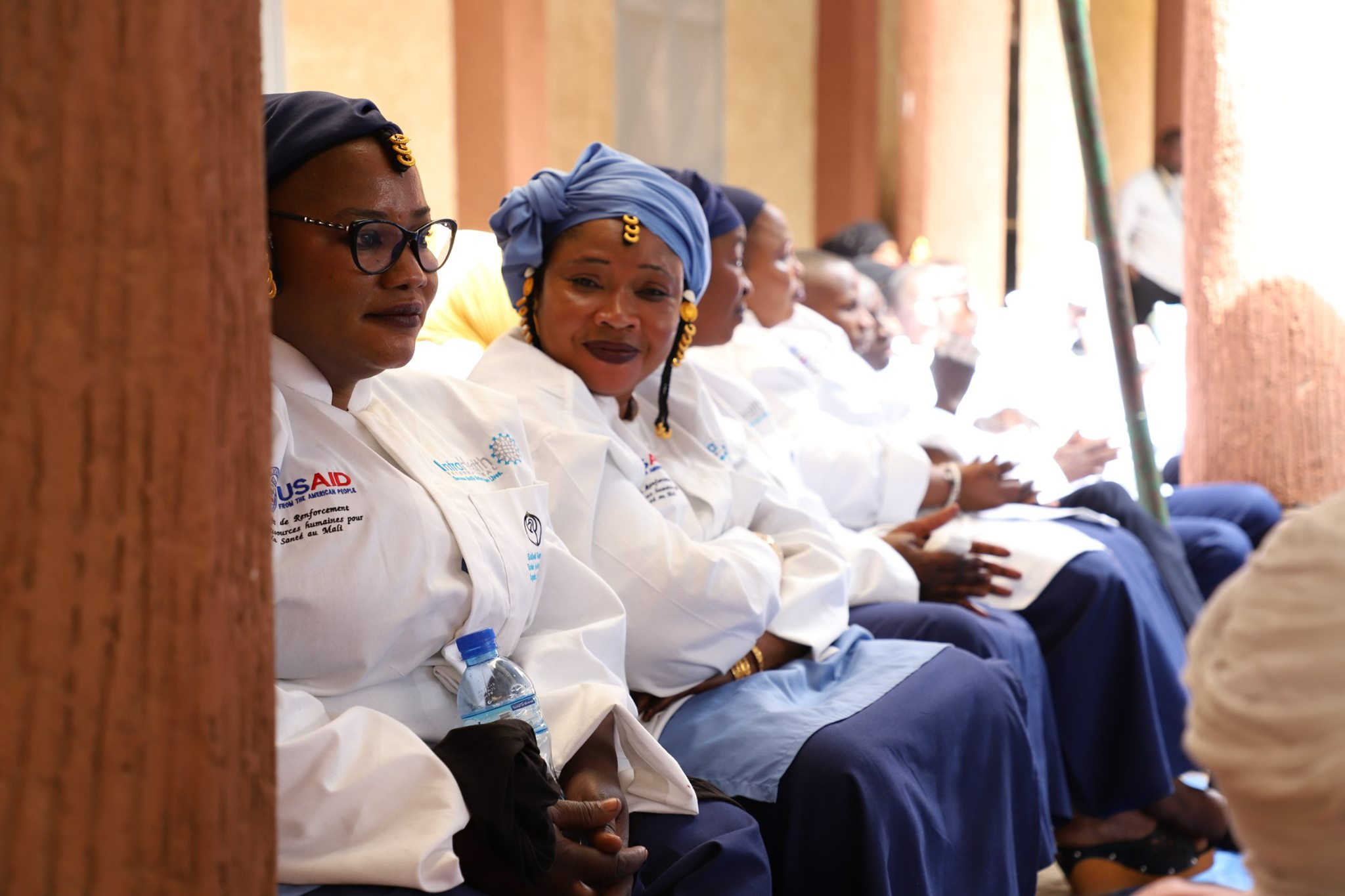 Official graduation ceremony of the Gao School of Nurses in February 2020. Photos taken by Emilienne Adibone Assama for IntraHealth International.