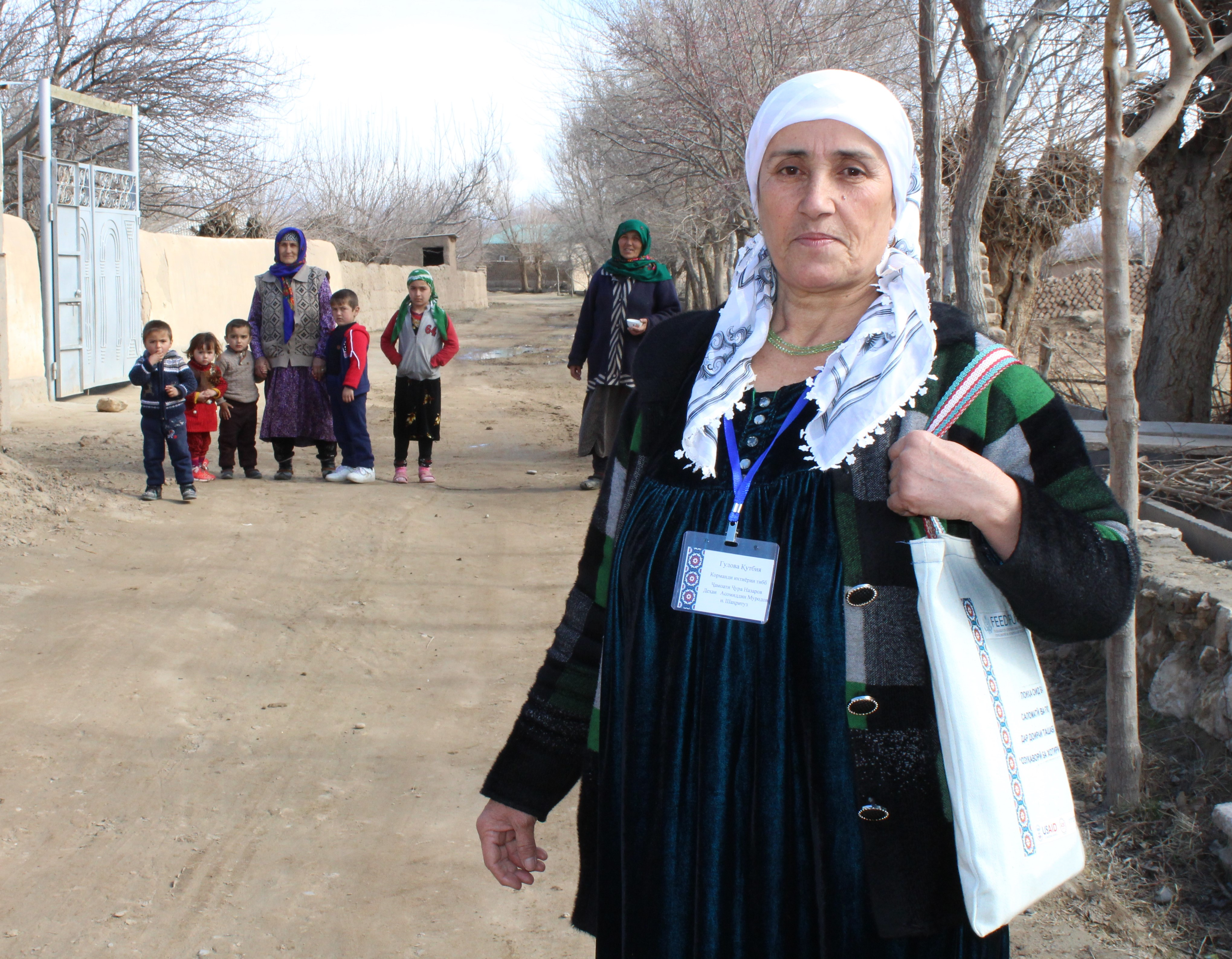 Thousands of people inKhatlon region now have greater access to health servicesand sanitation, thanks to the work of community health volunteers. Photo by Khosiyatkhon Komilova for IntraHealth International.