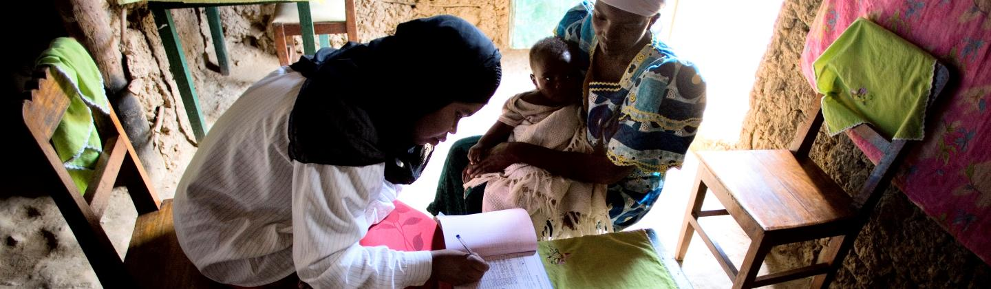 mother and child receive health services