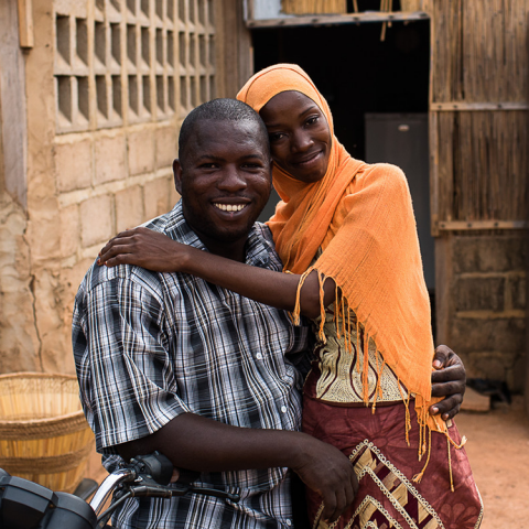 Newlyweds in Ouagadougou
