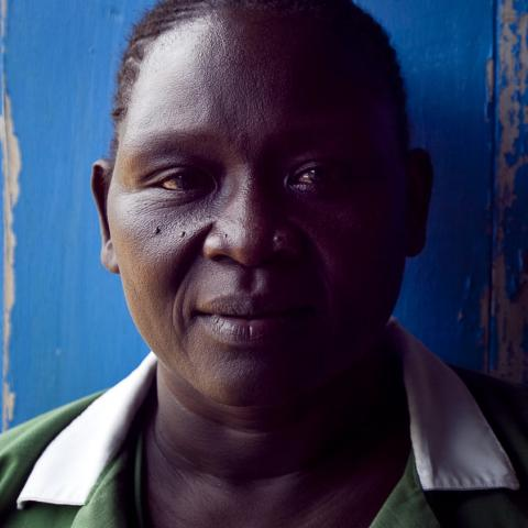 Health worker in South Sudan