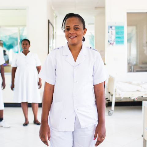 Health workers in Tanzania. Photo by Trevor Snapp for IntraHealth International