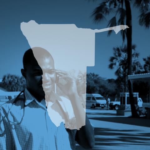 Namibia map icon
