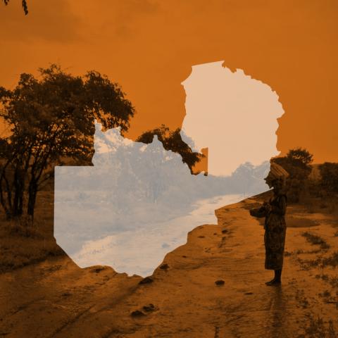 Zambia map icon