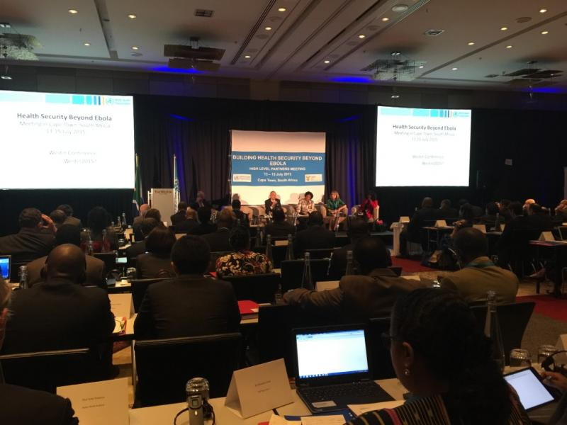 """The World Health Organization's high-level meeting, """"Building Health Security Beyond Ebola."""" Photo courtesy of Vince Blaser."""