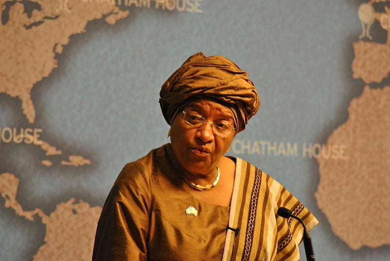 Liberia has made huge strides in combatting Ebola within its borders, largely thanks to the leadership of the first woman ever to be elected head of state in an African country: President Ellen Johnson Sirleaf. (By Chatham House (HE Ellen Johnson Sirleaf  Uploaded by russavia) [CC BY 2.0 (http://creativecommons.org/licenses/by/2.0)], via Wikimedia Commons.)