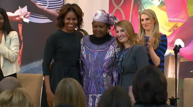 'It was like my head was in the clouds,' Fatimata says of the awards ceremony. 'The First Lady of America hugging me? I felt like I was dreaming, like I would wake up.'