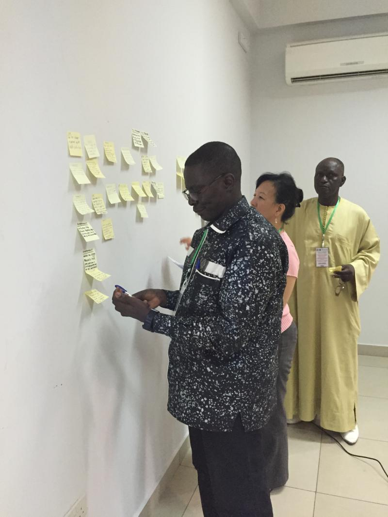 During May 18–21, participants from around the world came together to develop a consensus for action to improve health information systems in West Africa as the region continues to overcome and eventually recovers from the epidemic. Photo courtesy of Amanda Puckett.