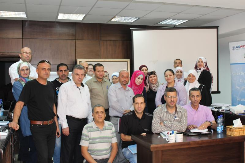 "These Ministry of Health staff took part in the ""Advanced Searching Techniques"" 3-day training in Ramallah, Palestine. Photo courtesy of Stephanie Brantley."