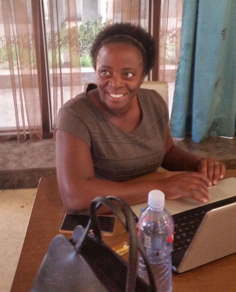 The author, Marjorie Kabinga-Makukula