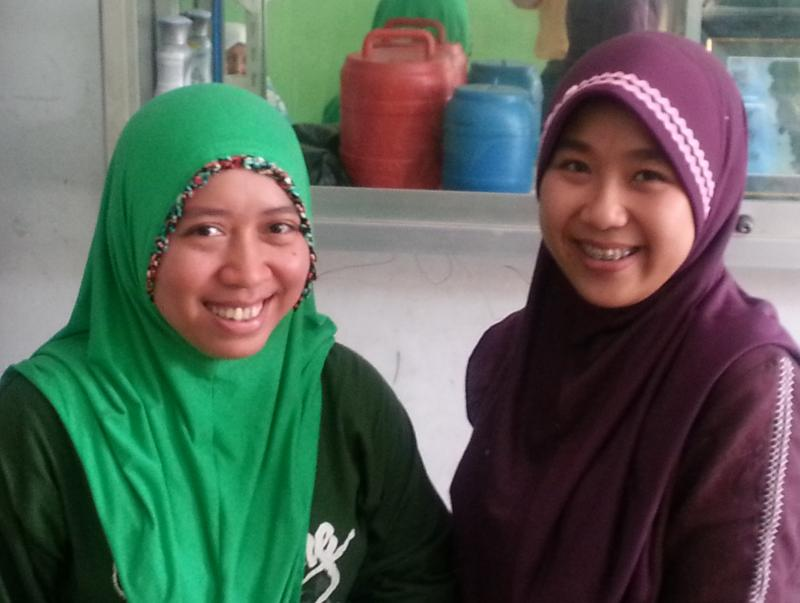 These two midwives in a poor area of Jakarta, Indonesia are part of DKT's