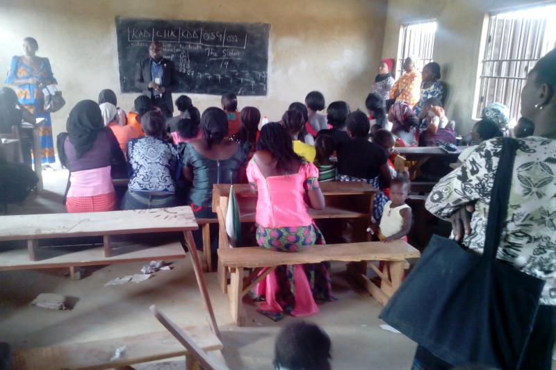 Photo courtesy of Mohammed Adamu Adangba (Adangba talks with out-of-school girls)