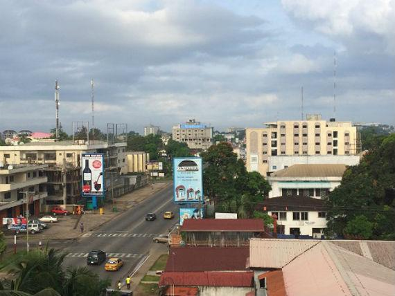 Downtown Monrovia—usually bustling with people—was nearly empty in the middle of the Ebola crisis. Photo credit: Leah McManus