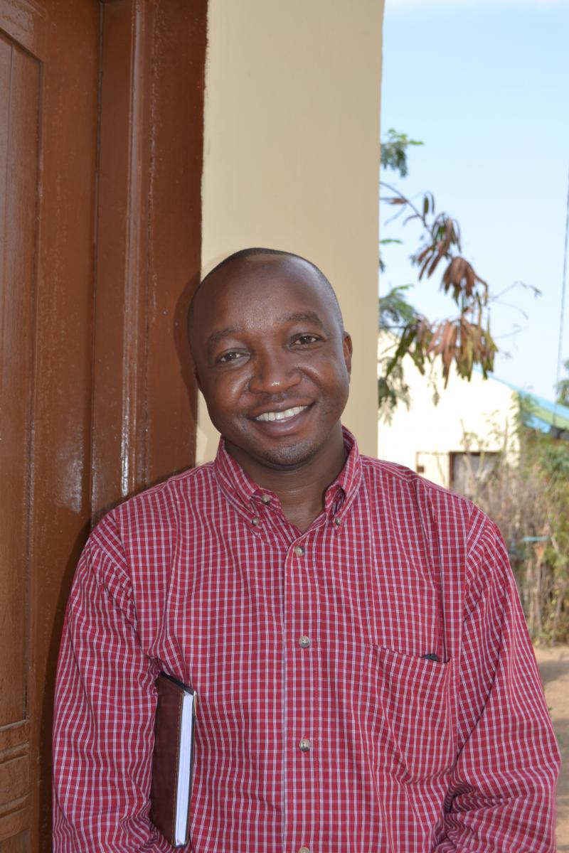 Clinical officer Paul Mwakipesile is the male circumcision program manager for IntraHealth's Tanzania HIV Prevention Project. Photo by Abbie Heffelfinger.
