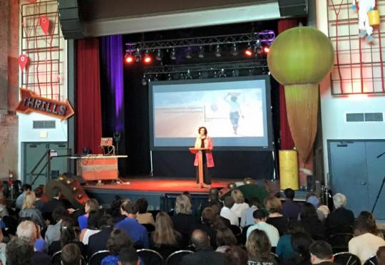 PATH's Claudia Harner-Jay speaks at SwitchPoint 2015. Photo: IntraHealth/SwitchPoint.