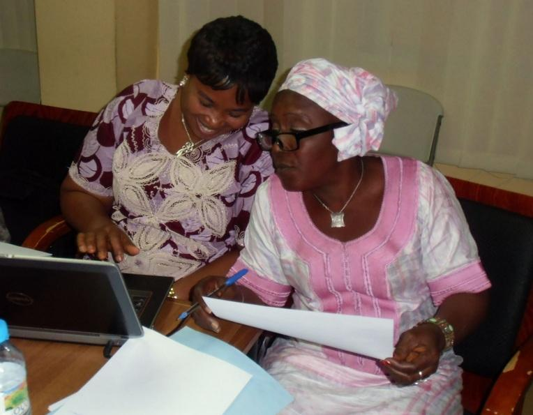 Before iHRIS, Guinea's Ministry of Health was using an old Microsoft Access database to capture data on their health workers. iHRIS allows them much more flexibility to create reports and use the data in more ways, including identifying the right health workers and their cell phone numbers to send messages via mHero. IntraHealth helped the ministry move the data from the Access database into iHRIS. Photo courtesy of Kayode Odusote.