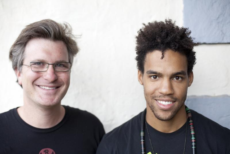 Stephen Levitin, aka Apple Juice Kid, and Pierce Freelon.