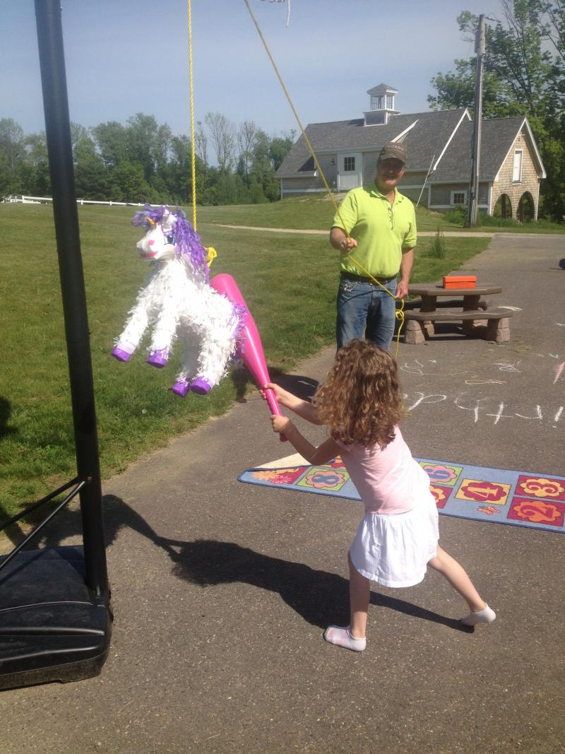 The fifth birthday is a  milestone, one Mahoney's family celebrated with a unicorn-themed birthday party.