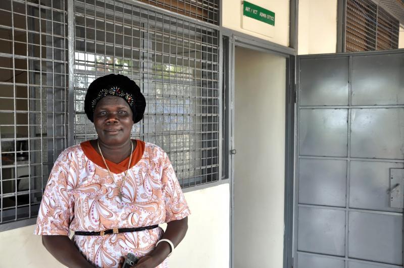 Adelinda David Drassa, PMTCT coordinator, Juba Teaching Hospital. Photo by Alex Collins for IntraHealth International