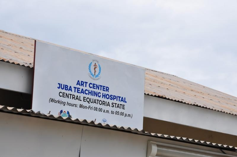 The ART center at the Juba Teaching Hospital, where LINKAGES clinical staff like Patrick provide HIV services on a weekly basis as support to the existing hospital staff. Photo by Alex Collins for IntraHealth International