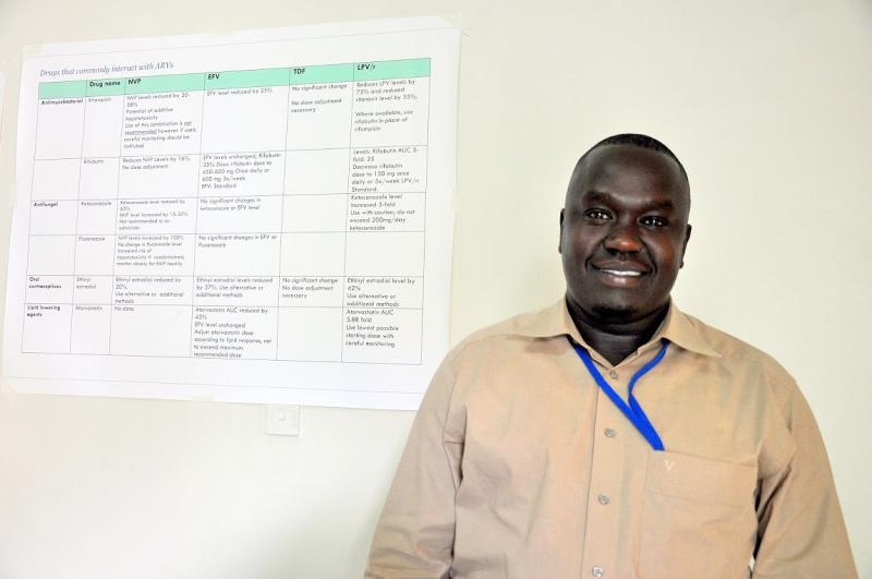 Patrick Hakim, a clinical officer for USAID's LINKAGES project. Photo by Alex Collins for IntraHealth International