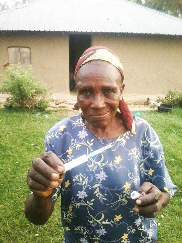 Winifred's status was akin to that of a chief. She knew every corner of our village and cared for people with malaria, cholera, burns, snake bites, and more. Photo courtesy of Peter Abwao.