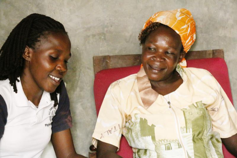 Imelda with her mother. Photo by Peter Abwao for IntraHealth International taken and used with permission.