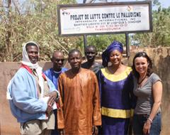Martel (far right) and the Mobilize against Malaria team