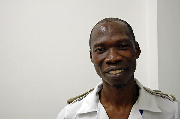 'I have a passion to help sick people,' says Oteng Gaopatwe, a nurse at Nyangabgwe Referral Hospital in Francistown, Botswana. Photo by Alex Collins.