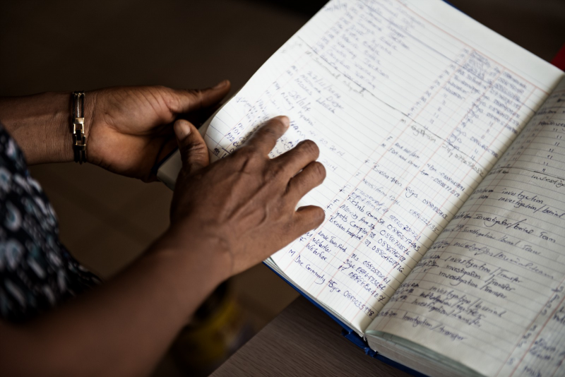 Currently, much of West Africa's health information is paper-based. Photo: Neil Brandvold, USAID