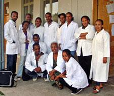 Group of midwives in training in Mekelle.