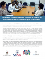 IntraHealth's Rapid Hiring Approach in Namibia