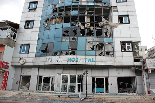 Damaged Turkish hospital. Photo: Physicians for Human Rights