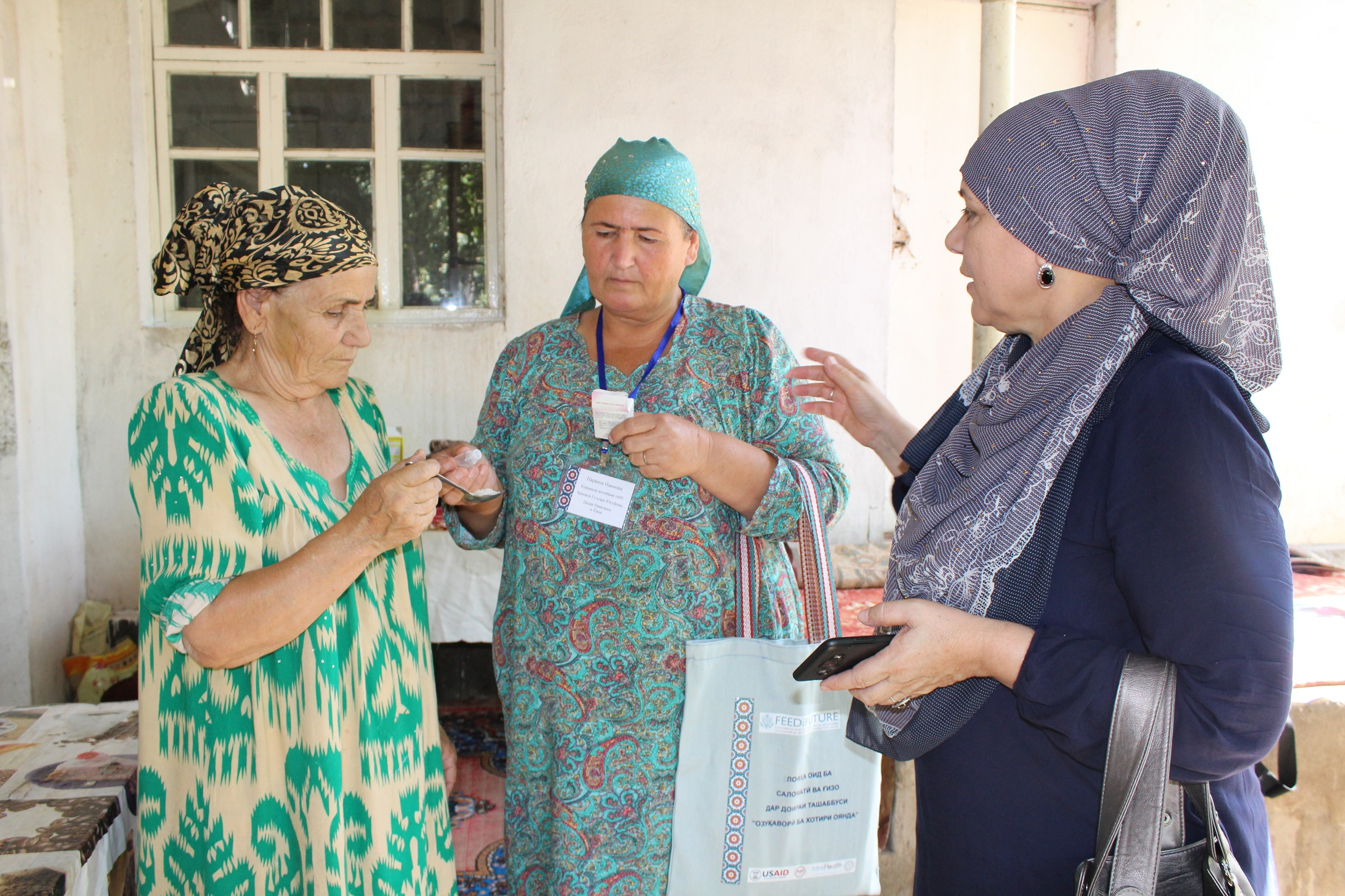 Community health volunteers work across maternal and child health, hygiene, agriculture, and advocacy in Tajikistan's Khatlon region. Photo courtesy of Tajikistan Health and Nutrition Activity.