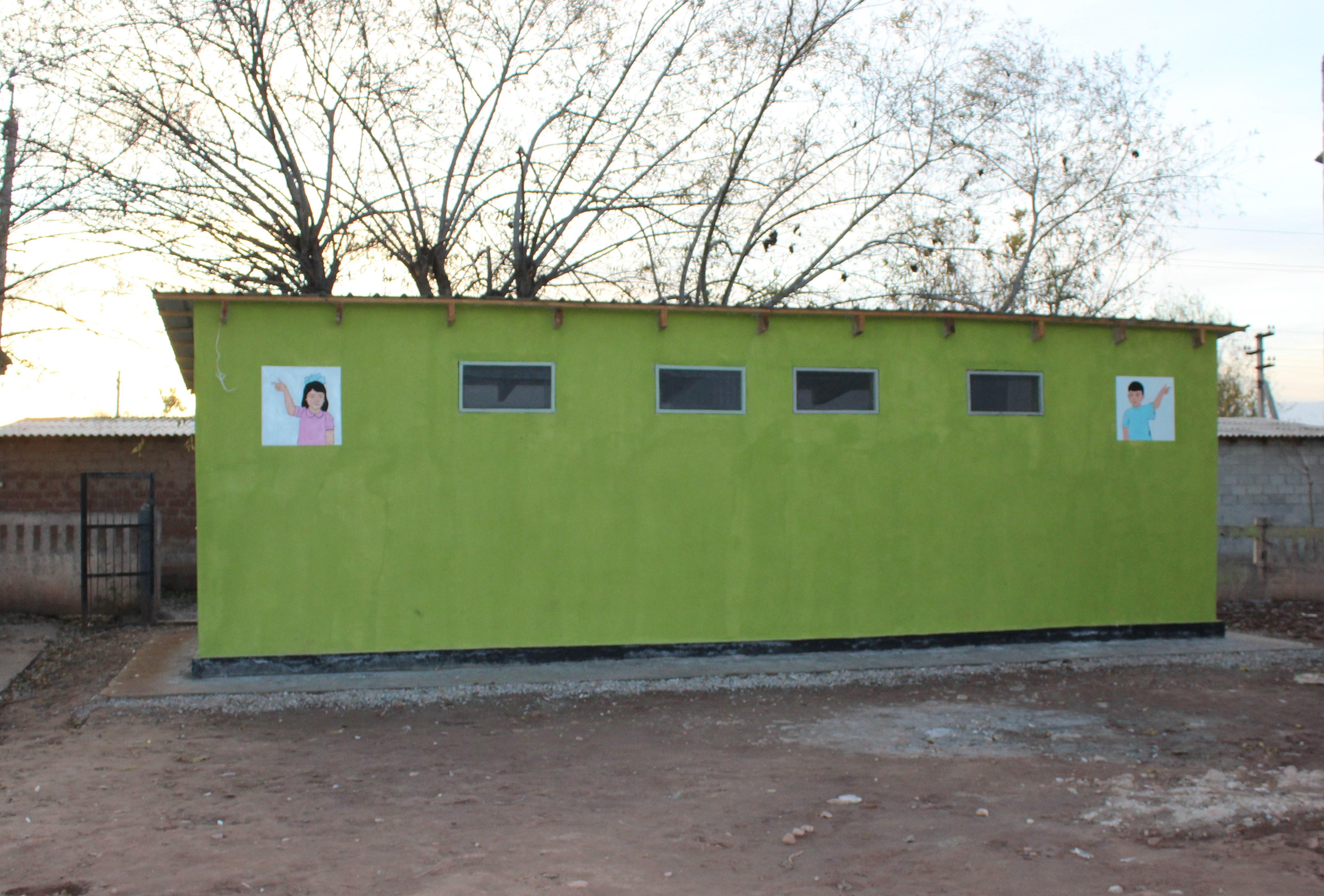 The new school latrines in Yovon district, Tajikistan. Photo byKomilova Khosiyatkhon for IntraHealth International.