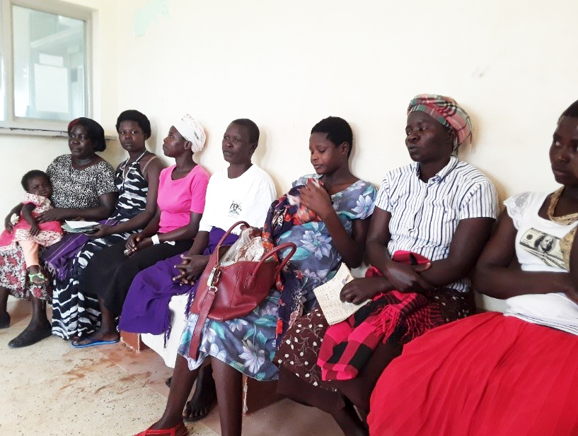 Beatrice accompanies six young mothers as they await laboratory results. Photo courtesy of Samuel Olobo.