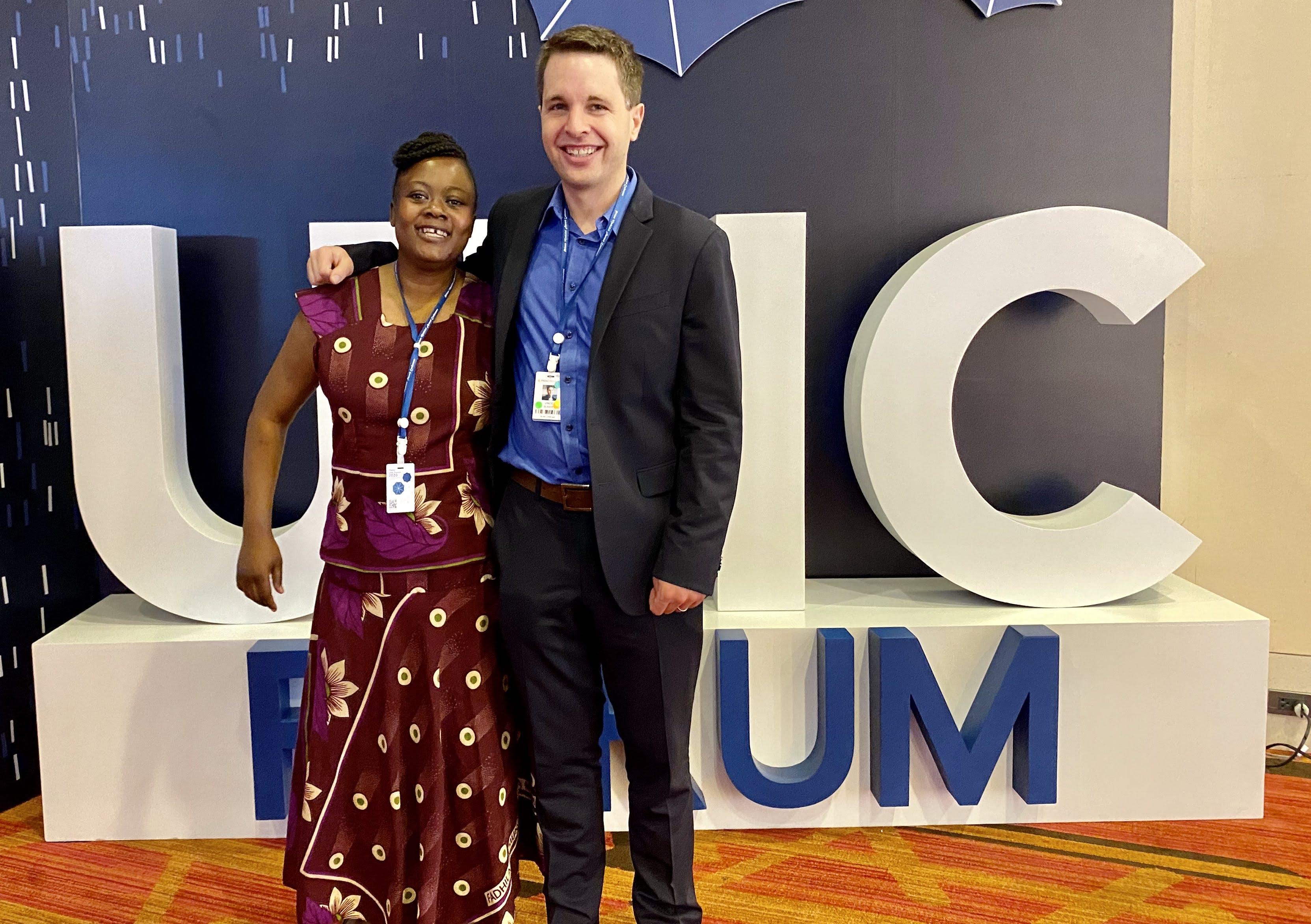 Margaret Odera and Vince Blaser at PMAC 2020.