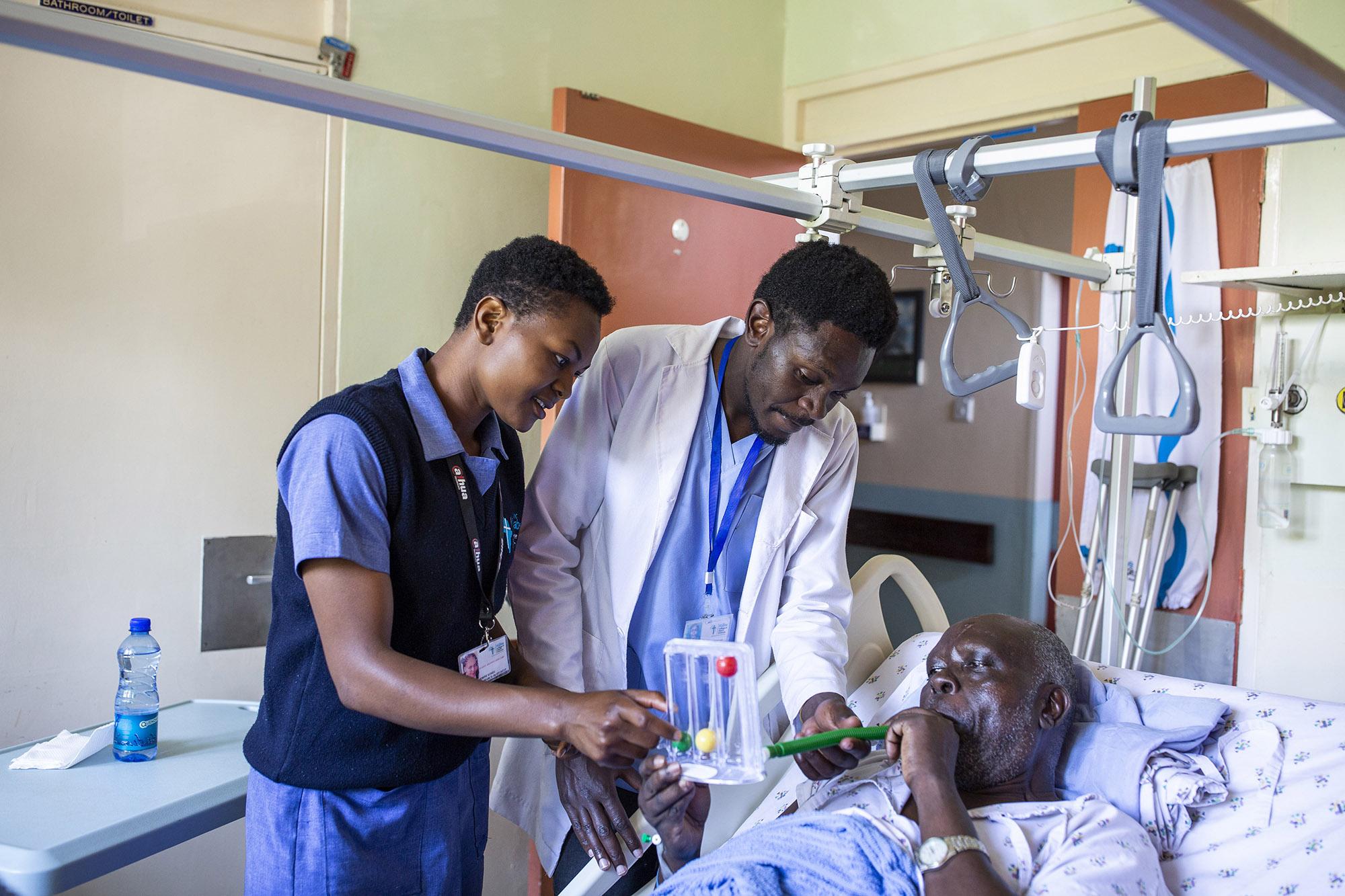 Nursing students in Kenya.
