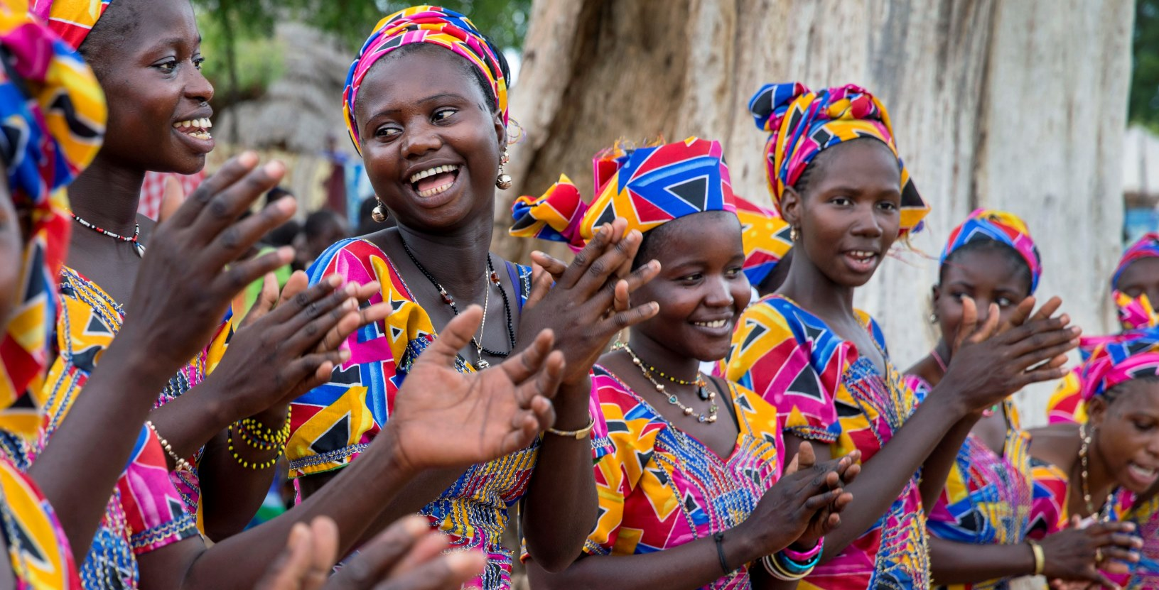 Young women in Senegal. PHOTO BY JONATHAN TORGOVNIK/REPORTAGE BY GETTY IMAGES