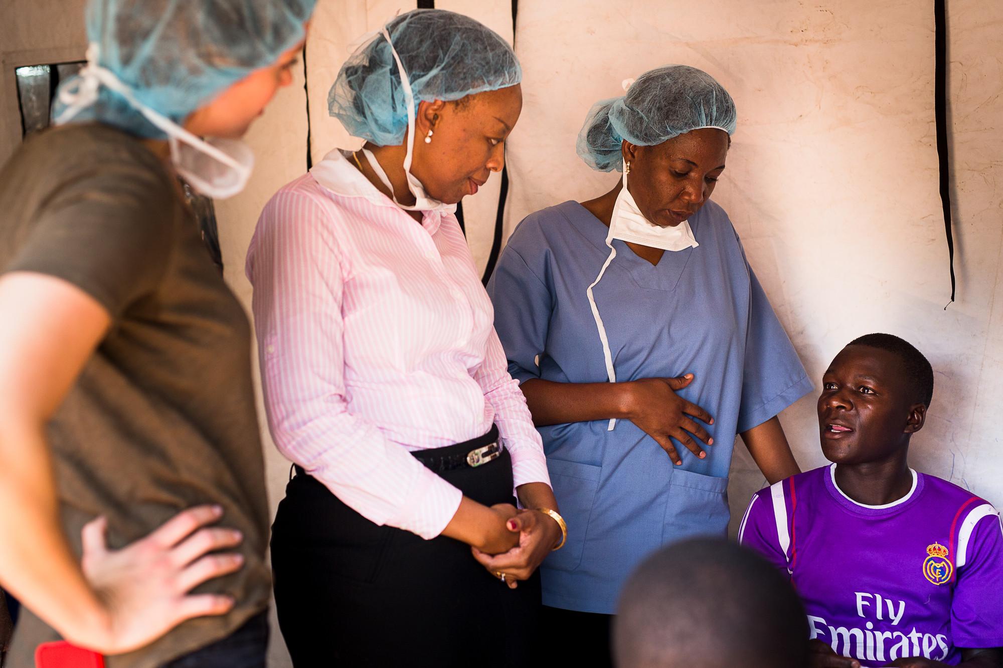 Lucy Mphuru visits a VMMC clinic in Tanzania.