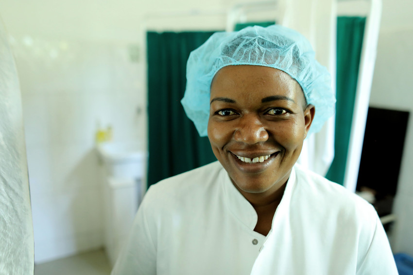 Imelda Ngonyani is a skilled nurse in Tanzania. Photo by Josh Estey for IntraHealth International.