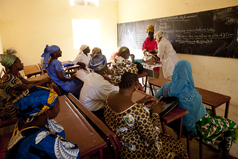 Gao Nursing School in Mali. Photo taken by Trevor Snapp for IntraHealth International.